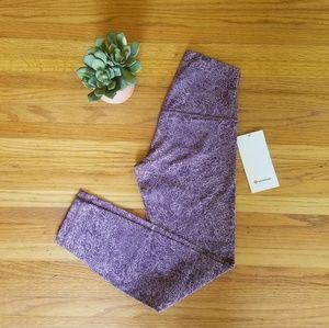 """NWT Lululemon Align 25"""" Purple Floral Leggings - 6"""